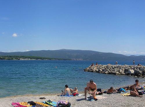 La plage de Porporela