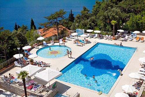 Beach pool allegro hotel rabac croatia - Hotels with saltwater swimming pools ...