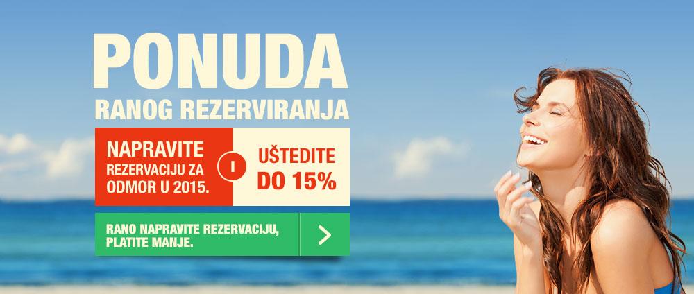 Ponuda za rane rezervacije - Valamar Hoteli & Apartmani, Hrvatska