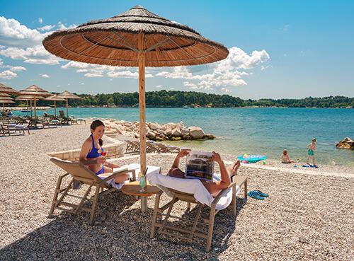 La plage Oliva - Poreč