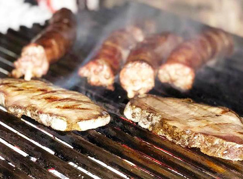 Loin and sausages - Rabac