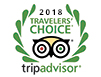 Tripadvisor 2016, 2017 & 2018 Travelers' Choice award